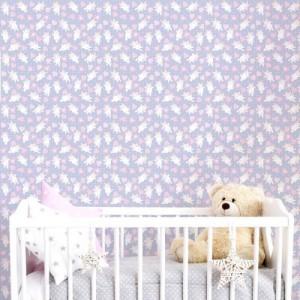 Papel de Parede Infantil Unicórnio Baby
