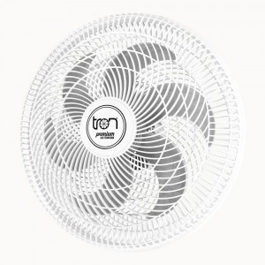 Ventilador Parede Lorena Branco Oscilante 127V Pás Prata