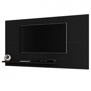 Painel para TV Genk Invertido Preto Fosco