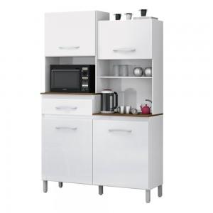 Armário Cozinha Completa Kit Pérola Branco