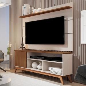 Home para TV Shaula Off White Freijó