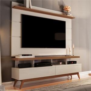 Home para TV 1.6 Polaris Off White Freijó