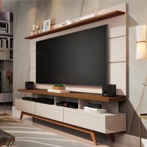 Home para TV 1.8 Polaris Off White Freijó