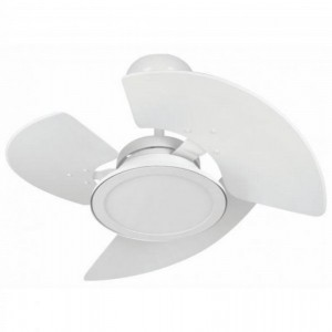 Ventilador Aventador LED Branco 110V 3 Pás Brancas