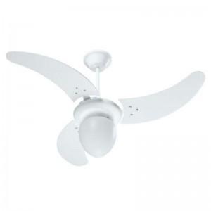 Ventilador Búzios Branco 220V 3 Pás Brancas