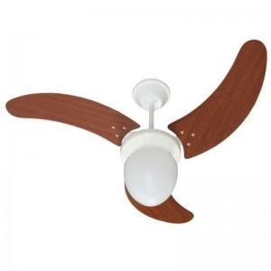Ventilador Búzios Branco 220V 3 Pás Verniz