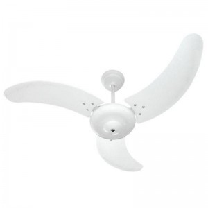 Ventilador Búzios Branco 110V 3 Pás Brancas Sem Lustre
