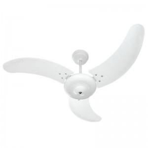 Ventilador Búzios Branco 220V 3 Pás Brancas Sem Lustre