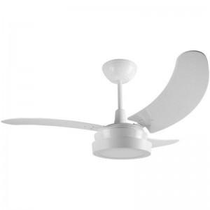 Ventilador Búzios LED Branco 110V 3 Pás Brancas
