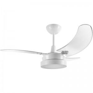 Ventilador Búzios LED Branco 220V 3 Pás Transparentes