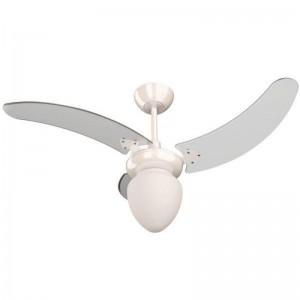 Ventilador Búzios Branco 110V 3 Pás Transparentes