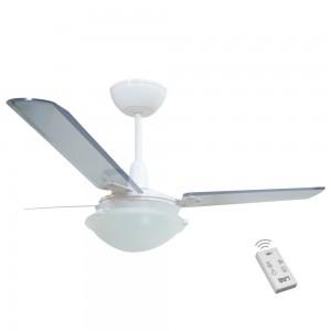 Ventilador Unions Branco 110V 3 Pás Transparentes e Controle