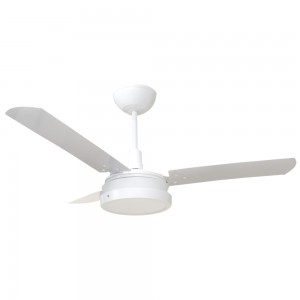 Ventilador Led Breeze Branco 110V 3 Pás Brancas