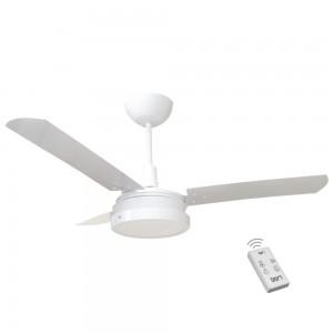 Ventilador Led Breeze Branco 110V 3 Pás Brancas e Controle Remoto