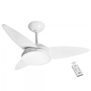 Ventilador LED Lian Branco 110V 3 Pás e Controle