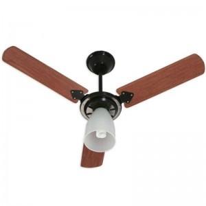 Ventilador Marbela Preto 220V 3 Pás Verniz