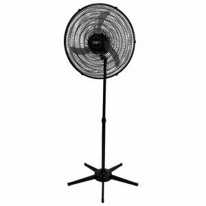 Ventilador Pedestal Oscilante 60 cm PP 110V Preto