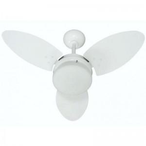 Ventilador Ventura Branco MDF 110V 3 Pás Brancas